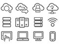 Cloud computing icons Royalty Free Stock Photos