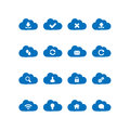 Cloud computing icons collection of Stock Image