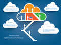 Cloud computing icons concept illustration which can be used for brochures infographics web design etc Stock Photo