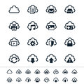 Cloud computing icons simple clear and sharp easy to resize no transparency effect eps file Royalty Free Stock Photography