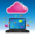 Cloud computing illustration of concept Stock Images