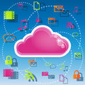 Cloud computing illustration of concept Royalty Free Stock Image