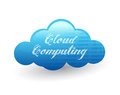 Cloud computing illustration design over a white background Royalty Free Stock Photos