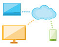 Cloud computing illustration great for web print or applications Royalty Free Stock Photos