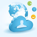 Cloud computing illustration great for web print or applications Stock Image