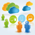 Cloud computing illustration great for web print or applications Stock Photos