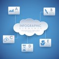 Cloud computing illustration of infographic chart of Royalty Free Stock Image