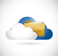 Cloud computing information storage illustration design over white Royalty Free Stock Photos