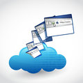 Cloud computing internet concept illustration design over white Royalty Free Stock Photos