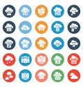stock image of  Cloud Computing Isolated Vector Icons Set