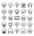 Cloud Computing Isolated Vector Icons Set
