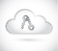 Cloud computing keys illustration design over a white background Royalty Free Stock Photography