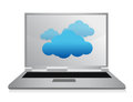 Cloud computing laptop illustration design Stock Photo