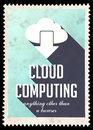 Cloud Computing on Light Blue in Flat Design. Royalty Free Stock Images