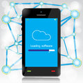 Cloud computing loading on mobile vector design Royalty Free Stock Images