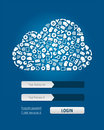 Cloud Computing Login Form Royalty Free Stock Image