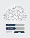 Cloud Computing Login Form Royalty Free Stock Photo