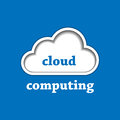 Cloud computing logo template Stock Image