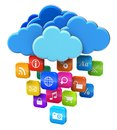 Cloud computing and mobility concept Stock Image