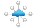 Cloud computing network diagram illustration Stock Image