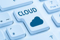 Cloud computing online internet cyberspace blue computer keyboar