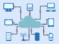 Cloud computing scheme the vector concept Stock Photo