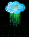Cloud computing secure data information storage binary concept Stock Photography