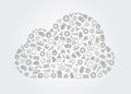 Cloud Computing Service Concept Royalty Free Stock Photography