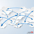 Cloud computing and social networks concept vector eps illustration Stock Photography