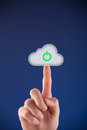 Cloud computing startup Royalty Free Stock Photos