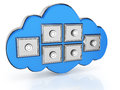 Cloud computing storage Stock Images