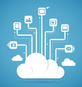 Cloud computing technology abstract scheme eps vector illustration Stock Photography