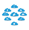Cloud computing and technology infographic design elements illustration Stock Images