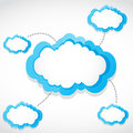 Cloud computing transfer Stock Image