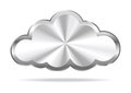 Cloud computing virtual icon Royalty Free Stock Photography