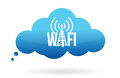 Cloud computing wifi Royalty Free Stock Image
