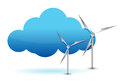 Cloud computing and windmill illustration design Royalty Free Stock Photo