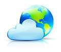 Cloud concept icon Stock Images
