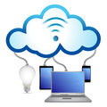 Cloud concept idea electronics Stock Photo