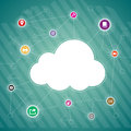 Cloud copyspace vector background illustration of and app concept Stock Image