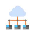 Cloud Data Center Icon Computer Connection Hosting Server Database Synchronize Technology Royalty Free Stock Photo