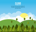 Cloud design wheater icon colorful illustration concept with vector eps graphic Stock Image