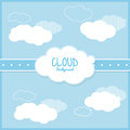 Cloud design wheater icon colorful illustration concept with vector eps graphic Royalty Free Stock Images