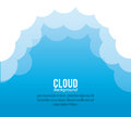 Cloud design wheater icon colorful illustration concept with vector eps graphic Royalty Free Stock Photo