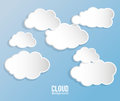 Cloud design wheater icon colorful illustration concept with vector eps graphic Stock Photography