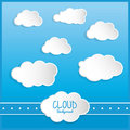 Cloud design wheater icon colorful illustration concept with vector eps graphic Stock Photos