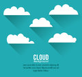 Cloud design wheater icon colorful illustration concept with vector eps graphic Royalty Free Stock Image
