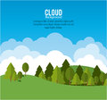 Cloud design wheater icon colorful illustration concept with vector eps graphic Royalty Free Stock Photography