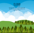 Cloud design wheater icon colorful illustration concept with vector eps graphic Royalty Free Stock Photos