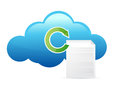 Cloud documents and cycle Stock Images